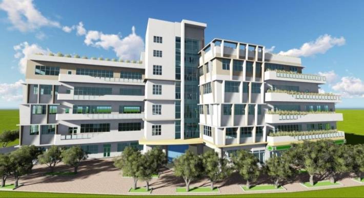 圖3建築物完成模擬圖(由北往南看)