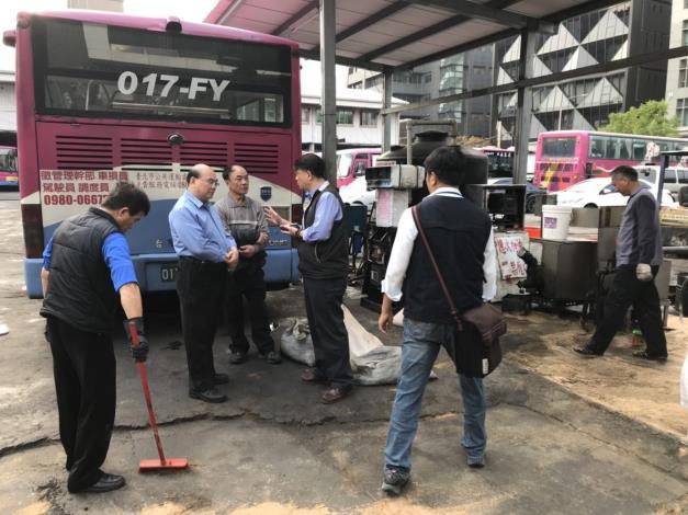 圖1、東南客運公司停車場內湖站柴油滲漏阻卻情形[開啟新連結]