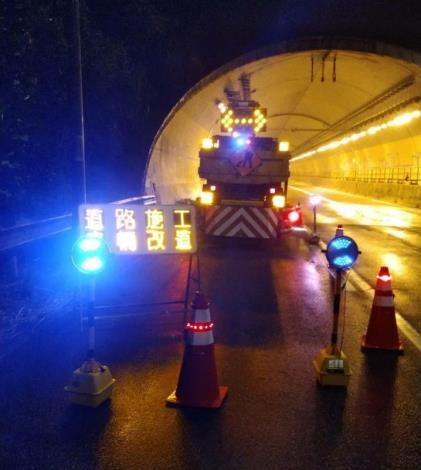現場警示情形-象山隧道