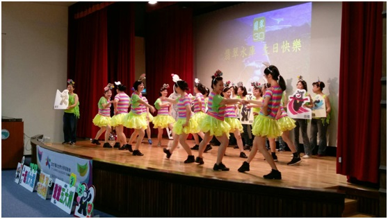7月15日活動照片:大濱江地區發展促進會世大運宣導舞蹈表演。