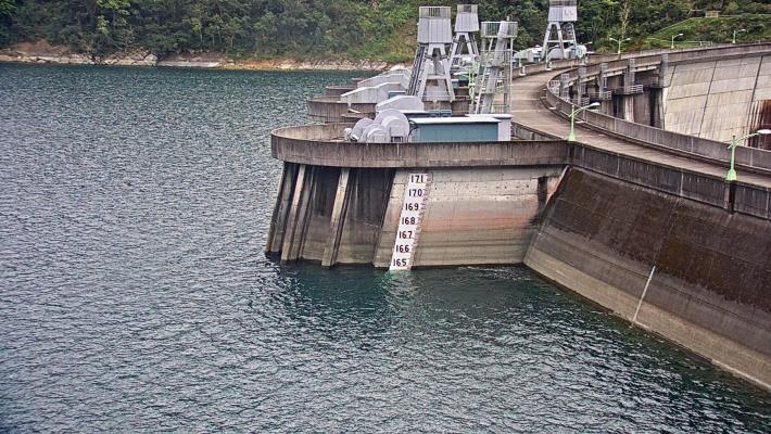 翡翠水庫108年2月12日水位現況照片