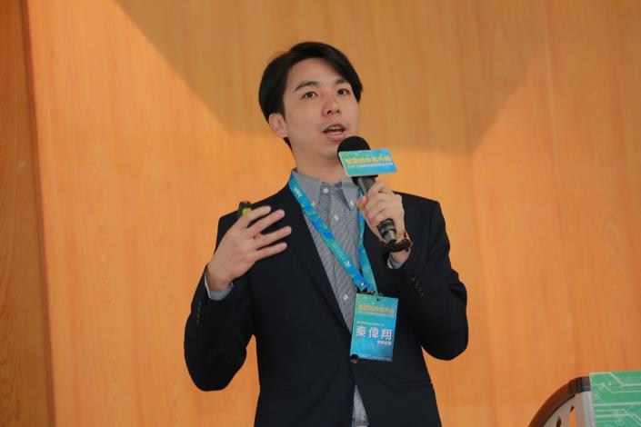打造臺北智慧生活實驗室-由秦偉翔專案經理發表.JPG