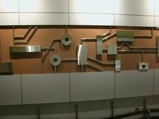 月台層軌道側牆板示意圖,共4張圖
