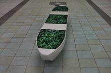 捷運‧碼頭示意圖-以茶葉為圖像之作品