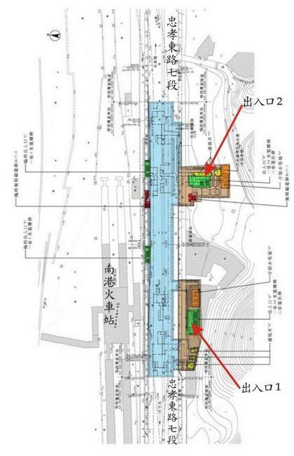 南港站配置圖