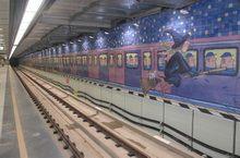 月台層-幾米畫作示意圖,共2張圖片