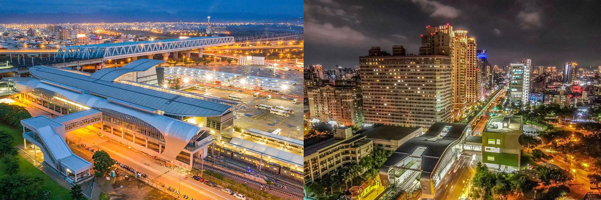台中捷運夜景