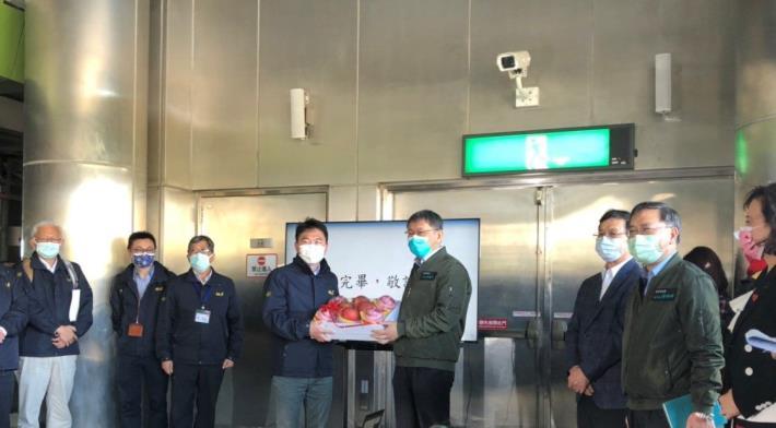 附件3 柯市長致贈水果慰問工作人員