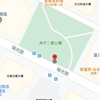 洲子2號公園站點位置示意圖