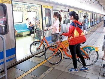 帶自行車上捷運
