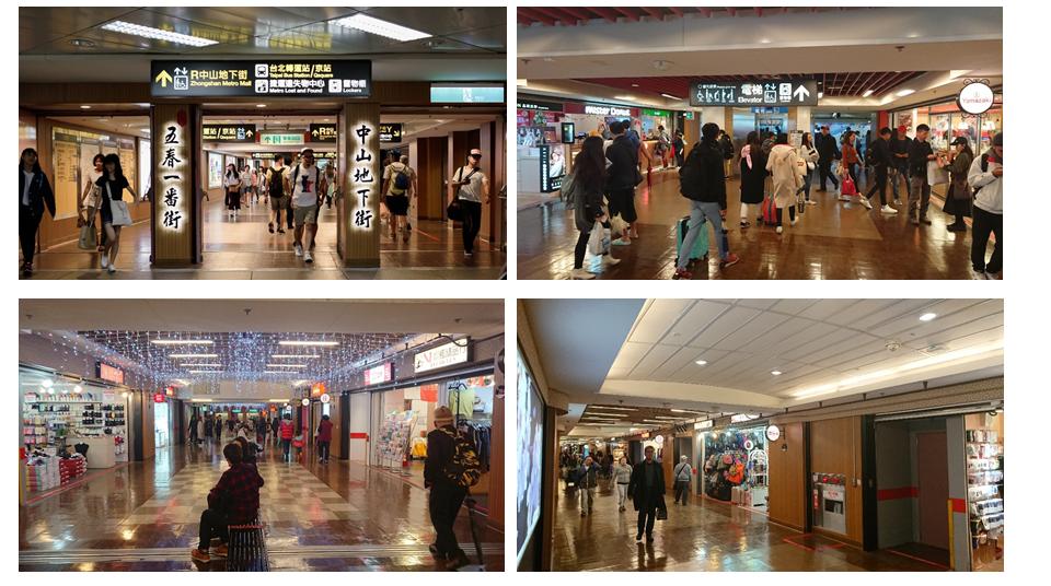 Zhongshan Metro Mall(Taipei Main Station-Zhongshan)