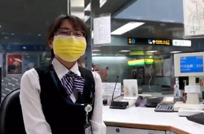 第一線服務人員全面配戴口罩