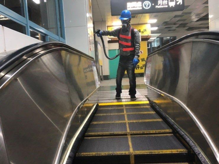 電扶梯噴灑消毒