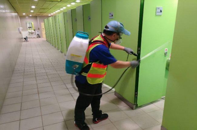 廁間噴灑消毒