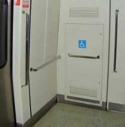 Parking Space for Wheelchairs-High Capacity Trains