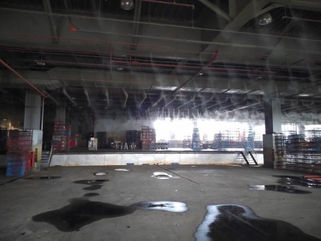 畜產公司場區消毒照片