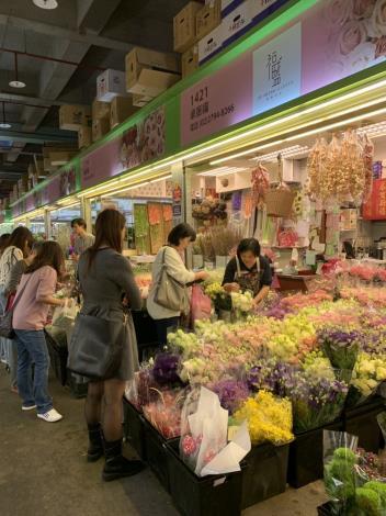 花卉零批場交易情形