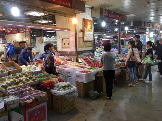 水果零批場交易情形
