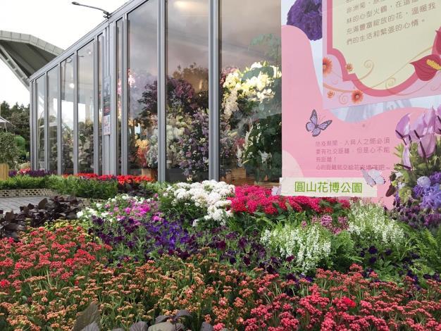 三座花卉櫥窗全面換花-1
