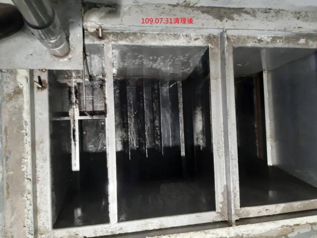 大龍市場地下處理區排水系統(清理後)