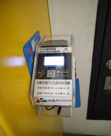 消費後至悠遊卡回饋機靠卡享回饋