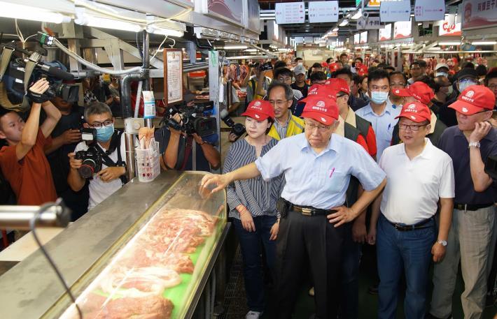 柯市長於環南市場巡禮