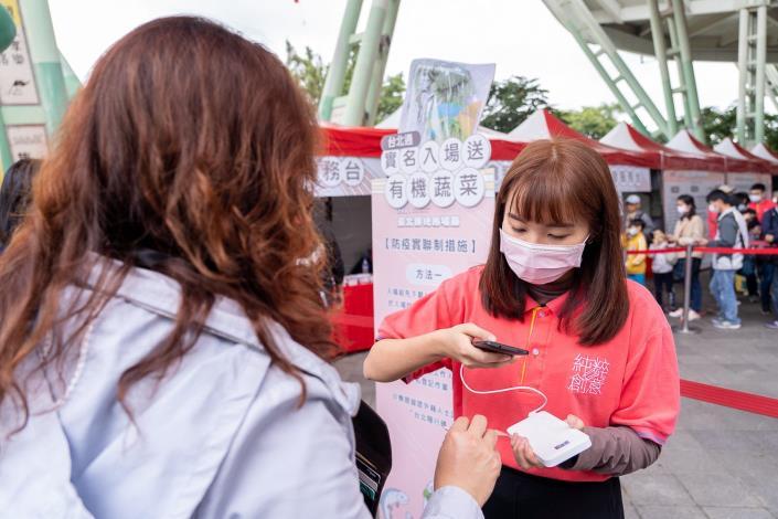臺北傳統市場節進場採實名制