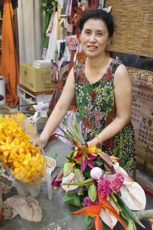 老闆娘也是花藝高手,除了綠美化,插花、花束通通難不倒她