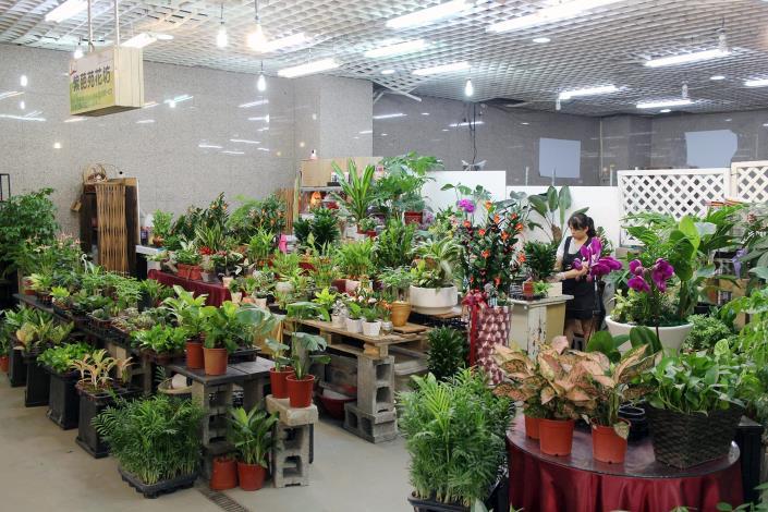 位於臺北花木市場裡的紫葩苑花坊門市