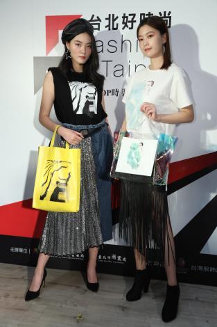 模特兒展示台北好時尚跨界合作作品.JPG