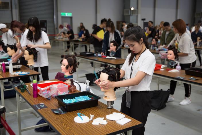 2018台北國際造型藝術節比賽現場1