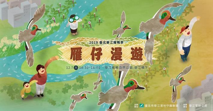 圖12019臺北華江雁鴨季-雁仔漫遊。
