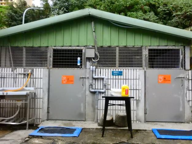 北市動保處提供獨立的寵物專用安置區
