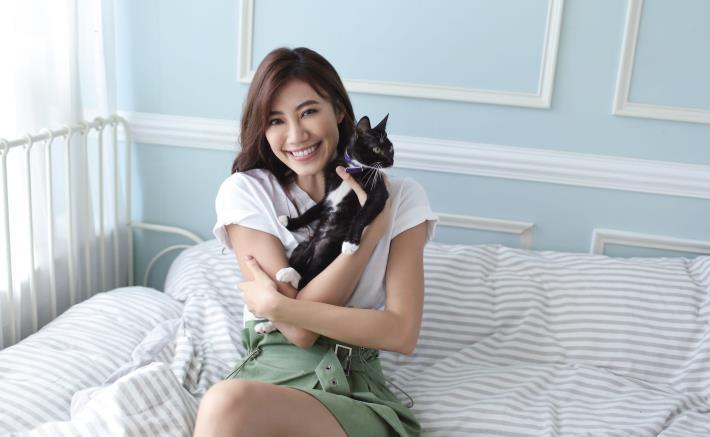 圖一、「2020浪愛回家」伊林名模紀艾希推廣貓咪認養。