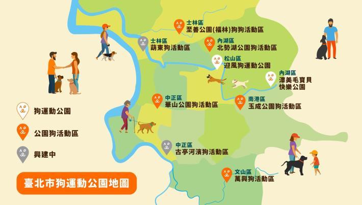 圖5 臺北市狗運動公園地圖