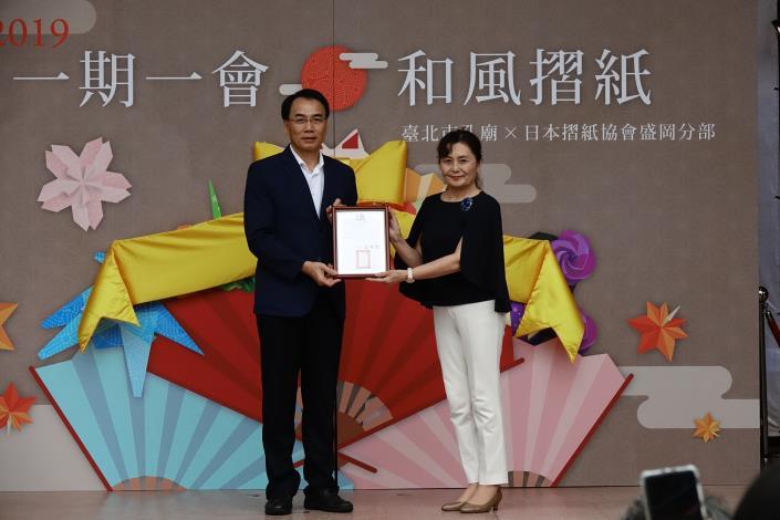 民政局吳副局長坤宏與日本紙藝老師