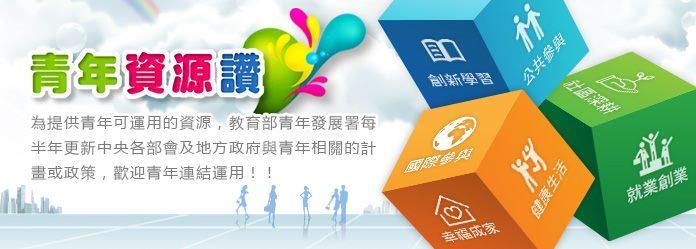 教育部青年發展署「青年資源讚」資訊網[開啟新連結]