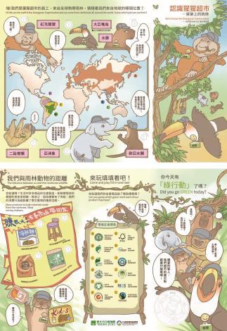 「貨架上的雨林-猩猩超市」學習單