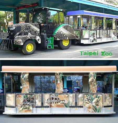 嶄新的「射紋陸龜」和「青鸞」斑紋列車,今天正式加入遊客接駁服務的行列