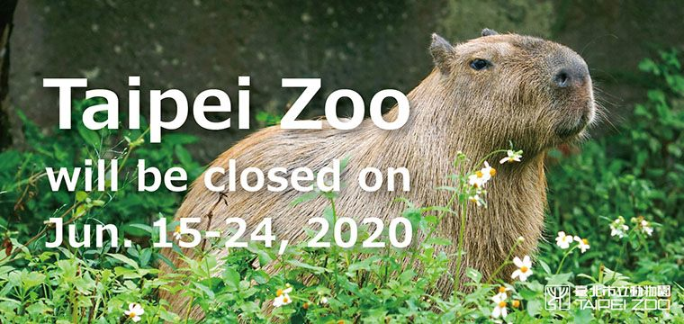 Taipei Zoo will be Closed from 15th to 24th June 2020