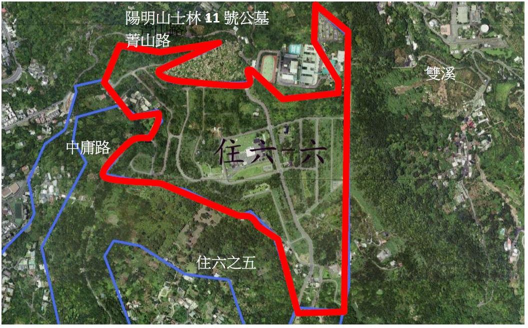 士林區住六之六自辦市地重劃區航照位置圖
