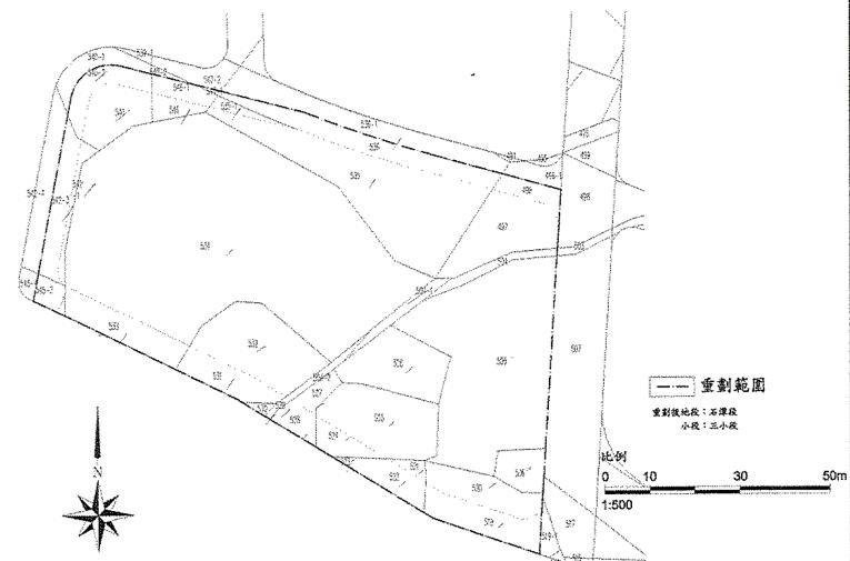 內湖區石潭里(都市計畫R7街廓)自辦市地重劃區重劃前地籍圖