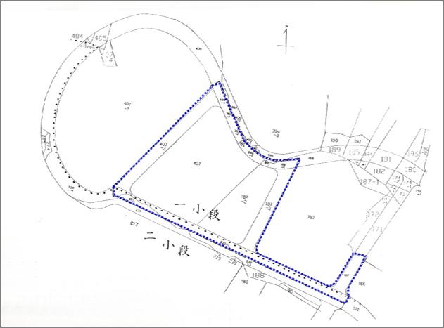 文山區興隆段第一期自辦市地重劃區重劃前地籍圖