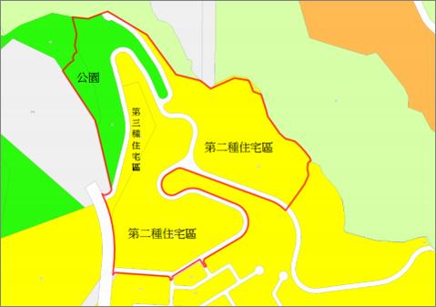 景美區第一期自辦市地重劃範圍及土地使用分區示意圖