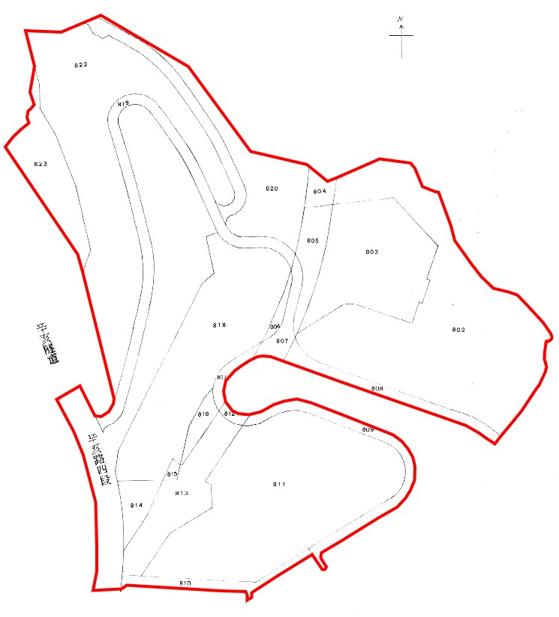 景美區第一期自辦市地重劃區重劃後地籍圖