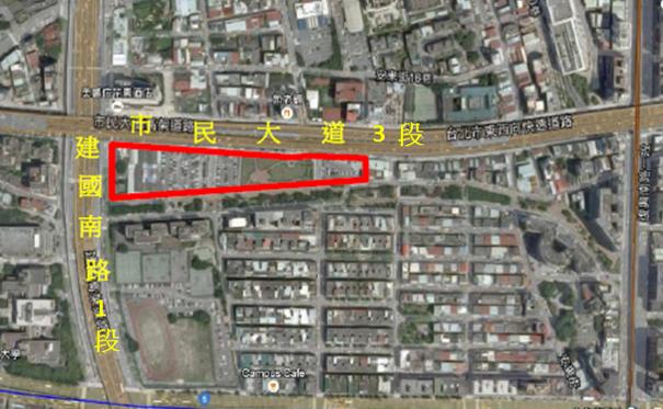 大安區懷生自辦市地重劃區航照位置圖