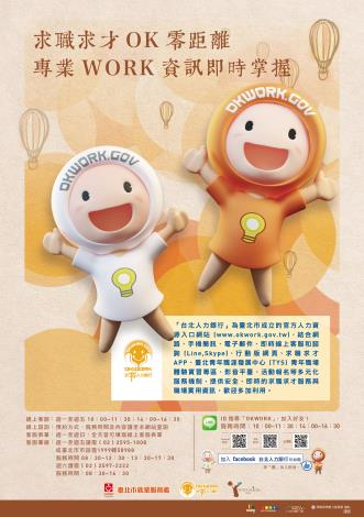 台北人力銀行海報