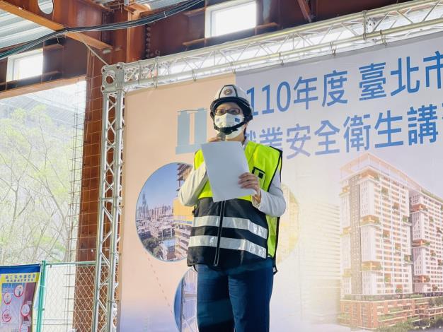 圖說二:北市勞動局長陳信瑜6日視察廣慈博愛園區整體開發計畫公共住宅第C標統包工程,觀摩最新工法。