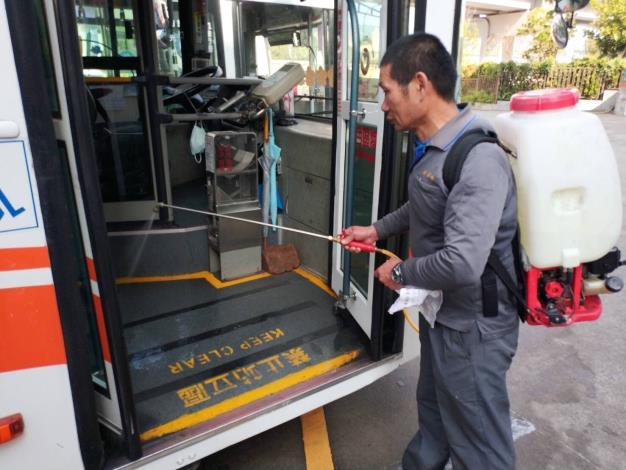臺北市公車消毒