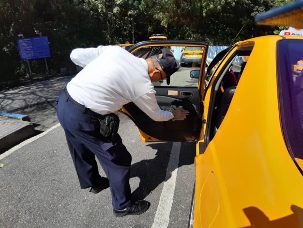 計程車消毒照片1